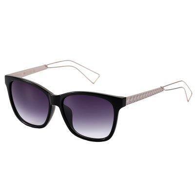 Zonnebril Fashionista zwart zonnebrillen clubmaster ray ban designer look a like gespiegelde reflective zilveren pootjes brillen dames