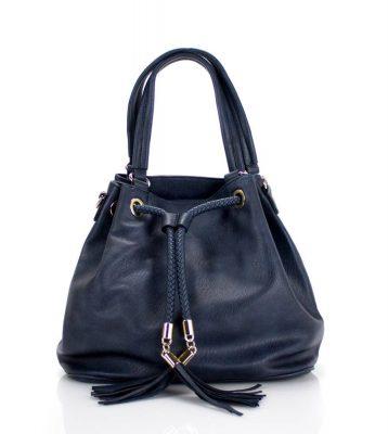 Bucket Bag Must blauw blauwe dames tassen kwastjes gevlochten hengsel mooie goedkope dames tassen online
