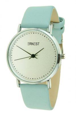 Ernest Horloge Silver Soft blauw blauwe pastel dames horloges zilveren kast verschillende soorten horloges online