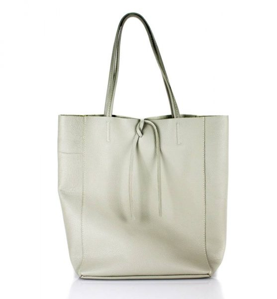 Leren Shopper Simple beige nude creme ruime dames shopper zacht leer online luxe dames tassen italie bestellen
