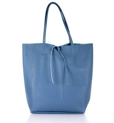 Leren Shopper Simple blauw blauwe ruime dames shopper zacht leer online luxe dames tassen italie bestellen