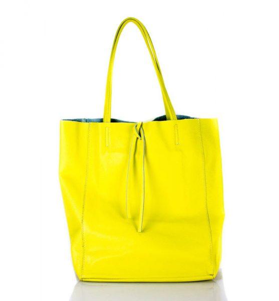 Leren Shopper Simple geel gele ruime dames shopper zacht leer online luxe dames tassen italie bestellen