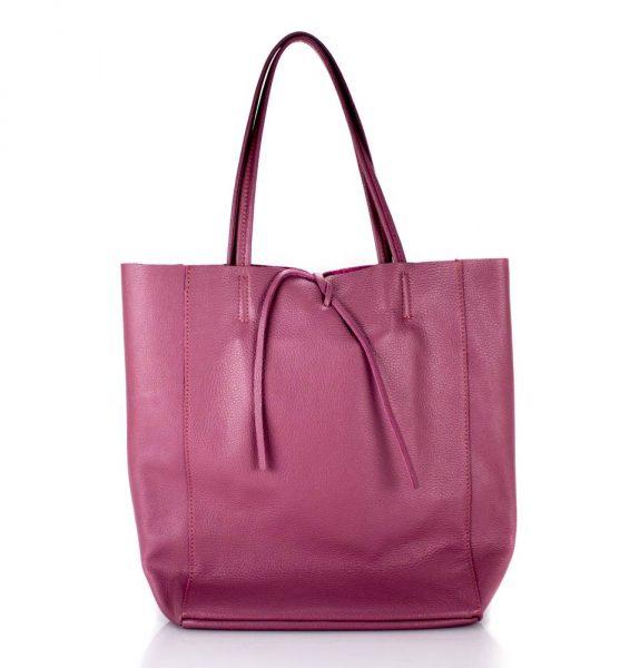 Leren Shopper Simple paars paarse ruime dames shopper zacht leer online luxe dames tassen italie bestellen