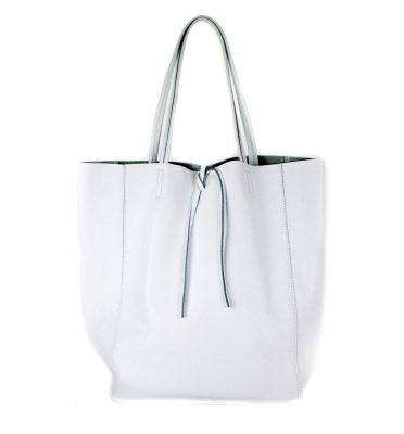 Leren Shopper Simple wit witte ruime dames shopper zacht leer online luxe dames tassen italie bestellen