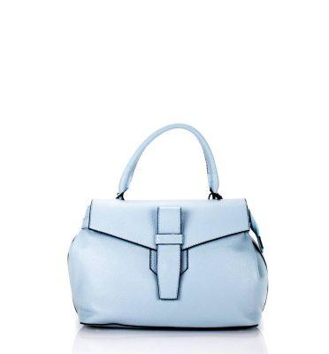 Leren Tas Majo S baby blauw blauwe lederen dames handtassen zacht leer luxe tassen vrouwen online leer bestellen goedkoop