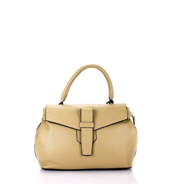 Leren Tas Majo S beige nude creme lederen dames handtassen zacht leer luxe tassen vrouwen online leer bestellen goedkoop