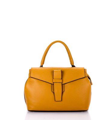Leren Tas Majo S cognac camel oker lederen dames handtassen zacht leer luxe tassen vrouwen online leer bestellen goedkoop
