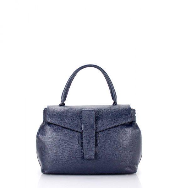 Leren Tas Majo S donker blauw blauwe lederen dames handtassen zacht leer luxe tassen vrouwen online leer bestellen goedkoop