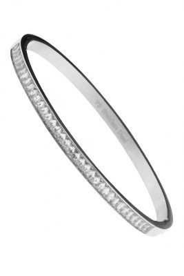 RVS Armband Meysa zilver zilveren armband afgewerkt met diamantjes steentjes rondom musthave dames armbanden online