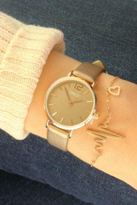 RVS Armband heartbeat rose goud dunne armband met hartslag bedel musthave roestvrij stalen stainless steel dames armbanden online