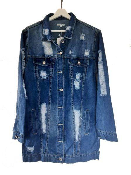 Spijkerjas Retro Spijkerjas-oversized-denim-jas-jacket-retro-spijkerjassen-distressed-look- geraffelde open rug musthaves-dames-kleding-online 1