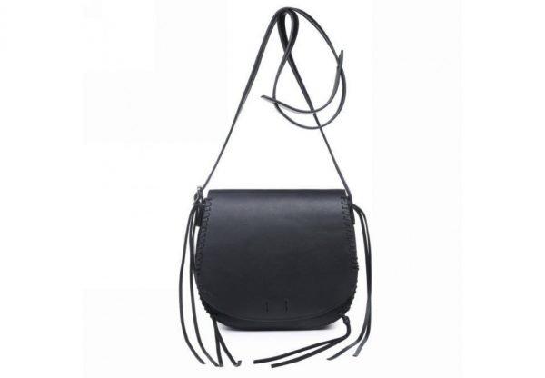 Tas Angel zwart zwarte dames schouder cross body bag festival tassen vrouwen fashion tassen online bestellen
