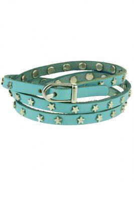 Wikkel Armband Stars blauw blauwe riem armbanden met sterren dames sieraden accessoires bracelet amrband online