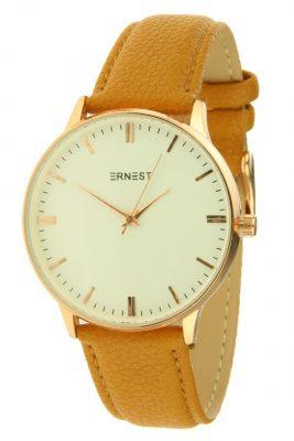 horloge-andrea fancy camel goud en kast musthave-pastel-kleuren-horloges-hippe-leuke-musthave-watches-online-kopen-ernest horloges