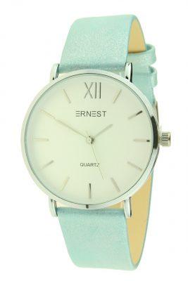 Dames Horlog Vienna blauwe blauw ernest dames horloges zilveren kast accessoires fashion horloges online