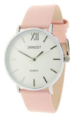 Dames-Horlog-Vienna-roze pink ernest-dames-horloges-zilveren-kast-accessoires-fashion-horloges-online-