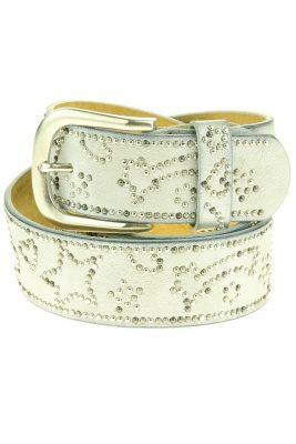 Dames Riem Multi Studs leder leren grijs grijze zilver gesp riemen accessoires centuren online kopen bestellen