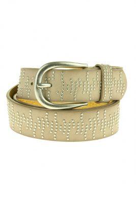 Dames Riem Stamin Studs taupe brede dames riemen centuren online zilveren gesp riemen vrouwen kopen bestellen