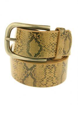 Dames Riem Taipan Snake Mocca bruine brede dames riemen centuren online zilveren gesp riemen vrouwen kopen bestellen