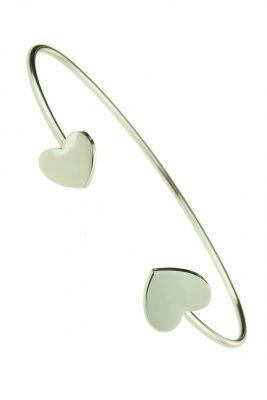 RVS Armband Sweetheart zilver zilveren open dames armband hartjes stainless steel goedkope dames accessoires online