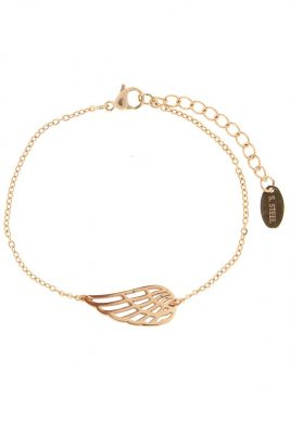 RVS Armband Wing rose goud gouden dunne dames armband stainless steel goedkope dames accessoires online