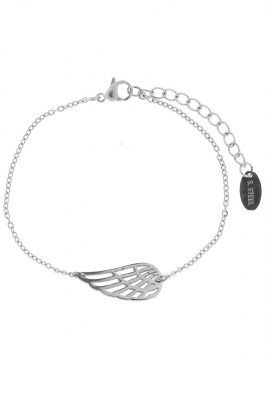 RVS Armband Wing rose zilver zilveren dunne dames armband stainless steel goedkope dames accessoires online