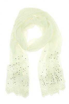 Sjaal Broderie wit witte gehaakte dames sjaals pailletten online kopen bestellen