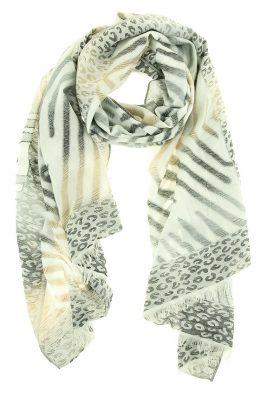 Vicose Sjaal Animal zwart zwarte Panther zebra print dames sjaals online kopen bestellen