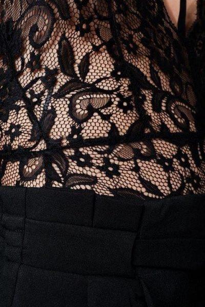 Zwarte Body kant met Choker musthave sexy dames kanten bodystocking kanten choker festival uitgaangskleding detail