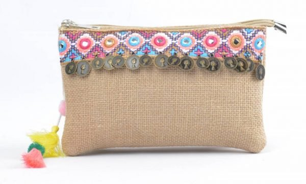 Dubbele Jutte Clutch mirrors dames clutches zomer muntjes kwastjes schoudertas -dubbele-rits online tassen hippe leuke tas