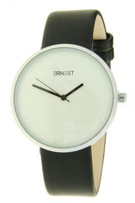 Horloge salvia zwart zwarte ernest dames horloges zilveren kast accessoires fashion horloges online