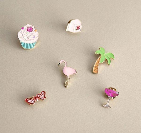 Pins Pink Flamingo hippe flamingo cupcake roze broches voor kleding kledingpins kleren versieren online