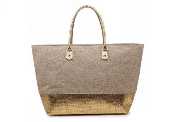 Shopper Shine goud gouden 2 kleurige dames tassen jutte shoppers hippe tassen online bestellen