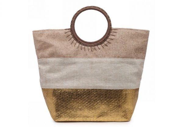 Shopper Sunshine goud gouden 3 kleurige dames tassen jutte shoppers hippe tassen online bestellen