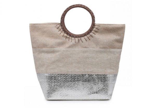 Shopper Sunshine zilver zilveren 3 kleurige dames tassen jutte shoppers hippe tassen online bestellen