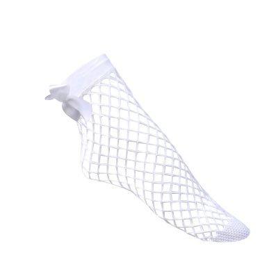 Visnet-sokken-strik-achteren-wit witte panty-sokjes-met-strikje-achter-fishnet-socks-panty-musthaves-Vrouw-Mesh-Kant-400x399