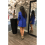 Blauwe Blazer Marit velle kobalt blauw lange dames blazers dames zomer jassen online festival jassen achterkant