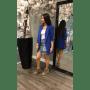 Blauwe Blazer Marit velle kobalt blauw lange dames blazers dames zomer jassen online festival jassen achterkant modemusthaves