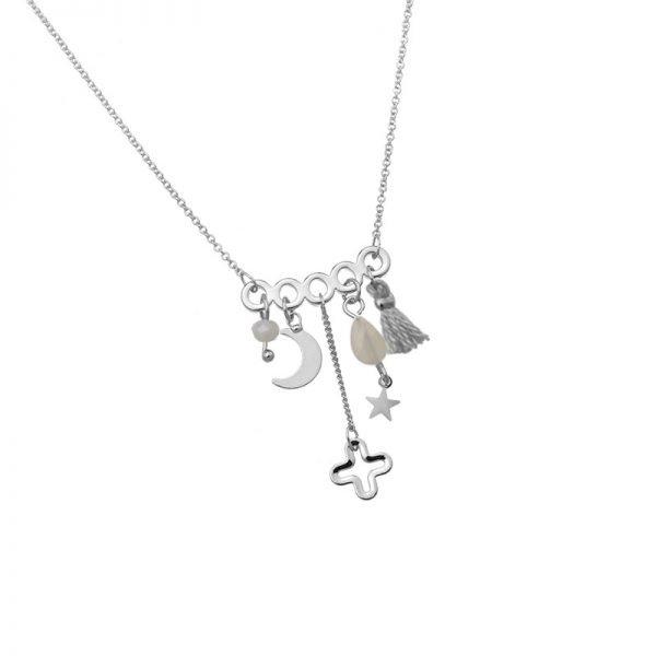 Ketting Bedeltjes zilver zilveren dunne dames kettingen kwastjes kraaltjes beldels sieraden online kopen details