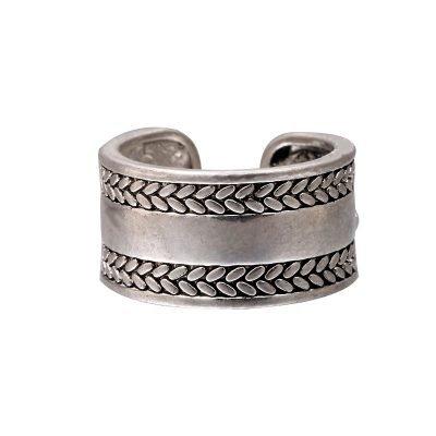 Zilveren Ring Leaves Lines zilver dames ringen blaadjes zilvere accessoires rings online kopen goedkoop