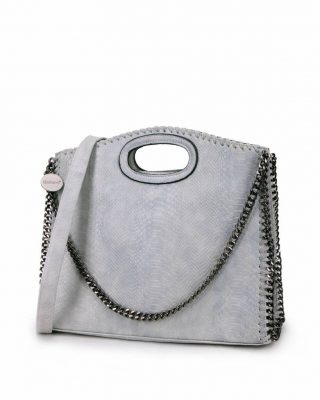Handtas Croco-Stella-Chains-grijs-grijze-croco-kroko-print-tas-kettingen-musthave-it-bag-look-a-like-tas-met-kettingen-online-kopen-goedkoop-cheap werktassen laptoptas zijkant