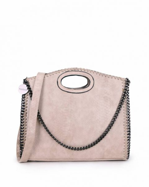 Handtas Croco-Stella-Chains-taupe -croco-kroko-print-tas-kettingen-musthave-it-bag-look-a-like-tas-met-kettingen-online-kopen-goedkoop-cheap werktassen laptoptas