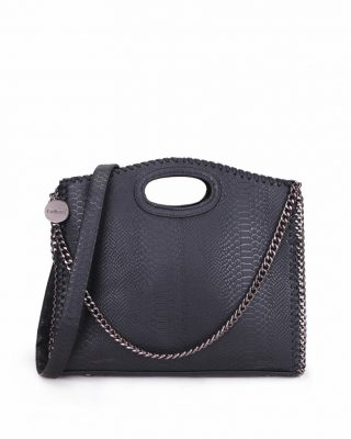 Handtas Croco-Stella-Chains-zwart zwarte-croco-kroko-print-tas-kettingen-musthave-it-bag-look-a-like-tas-met-kettingen-online-kopen-goedkoop-cheap werktassen laptoptas