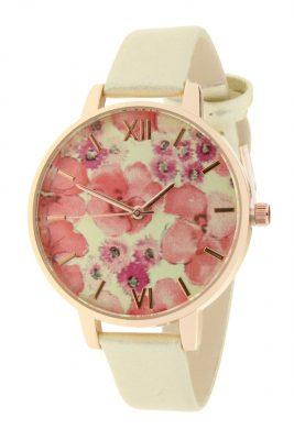 Horloge Poppy flowers gouden goud band klokwerk dames horloges met bloemen kast musthave ernest horloges accessoiresjpg