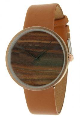 Horloge Wood camel band bruin bruine klokwerk dames horloges met houten look kast musthave ernest horloges accessoiresjpg