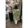 Kimono Amy groen groene fashion kimonos jasjes blazers bloemenprint dunne jassen musthave dames modemusthaves achterkant