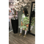 Kimono Amy groen groene fashion kimonos jasjes blazers bloemenprint dunne jassen musthave dames modemusthaves zijkant