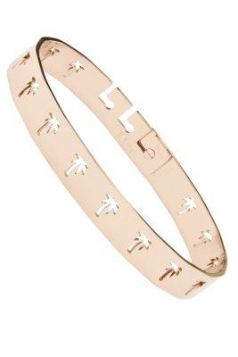 RVS Armband Palmtrees rose goud dames armband met Palmbomen verstelbare brede roestvrij stalen armbanden