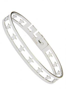 RVS Armband all stars zilver zilveren dames armband met sterren verstelbare brede roestvrij stalen armbanden