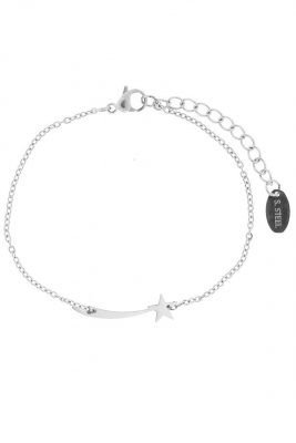 RVS Armband wish star zilver zilveren dames armband vallende ster bedeltje verstelbare dunnen roestvrij stalen armbanden